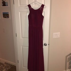 Hayley Paige occasions Maroon Bridesmaid Dress